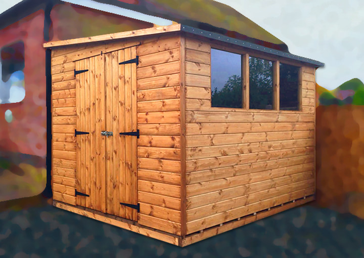 these garden sheds are arguably the most aesthetically pleasing choice when your shed is to be positioned against a wall or boundary fence - Garden Sheds 9x6